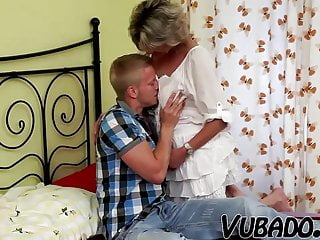 Young fucks lady - Young boy fucks mature lady in bedroom