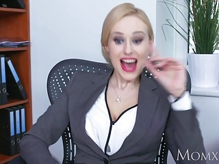 Adult geek Mom blonde big tits milf sucks massive geek cock