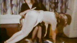 stepmother Spanks Her stepdaughters (1970s Vintage)