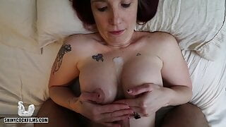 Stepmom Shares Her New Boobs with stepSon - Jane Cane