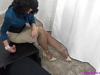 Leather teasing denial mature Mature mistress gloryhole handjob tease and denial edging