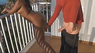 German Ebony Bitch Gets Fucked Doggy