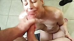 Cum sprayed wife