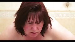 BBW Granny gets off in the bathroom
