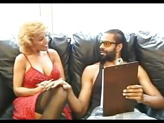 Black mature lingerie - Sexy mature in stockings fucks black guy