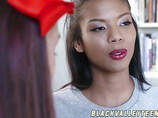 Rasypokka strip poke - Ebony teenager nia nacci swallows white dick and gets poked