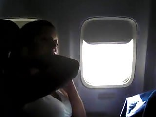 Lesbian airplane - Airplane masturbation