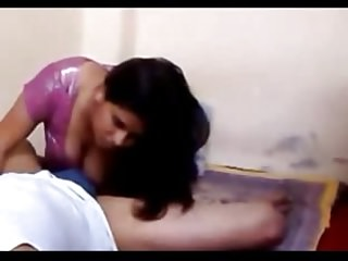 Indian aunty porn - Hot desi indian aunty giving blowjob and fucking lover