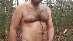 Watch me strip in the woods