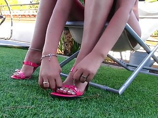 Panty fetish video preview Sexy heels mules dangling full hd preview of my website
