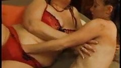 a slutty mommy with huge boobs fuck  daughter