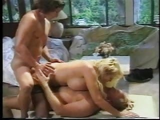 Facial features age - A thick, busty golden age blonde gets stuffed by two dudes