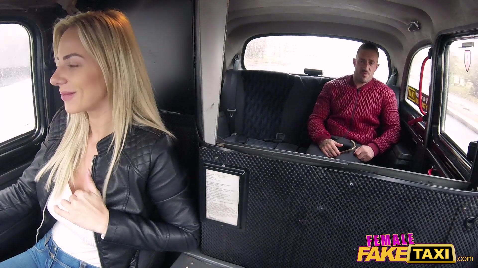 Chubby Blonde Fake Taxi