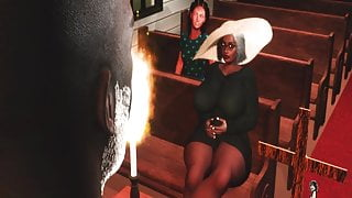 Big Butt Granny catches the Pastor Fucking after church