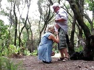 Rosalind woods granny nudist - Grandma satisfy huby grandpa in wood