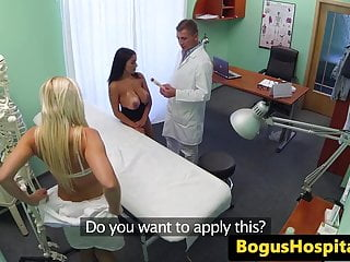 Adviser health program sexual training Jizzed busty patient follows doctors advise