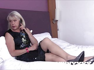Mature stocking lady Dirty old granny lady sextasy fucks toyboy in stockings
