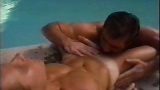 Bareback poolside