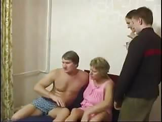 Russian family having sex together - Russian family