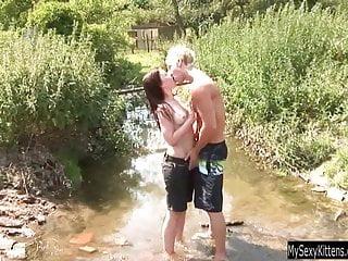 Cock suck outdoor Hot teen jenny suck and fuck cock outdoors