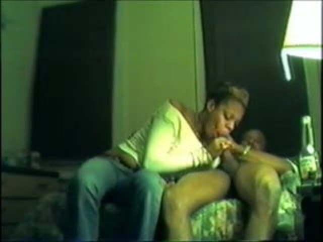 Ebony Amateur Cum Swallow