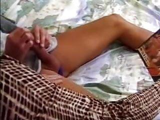 Grandma pussy massage Grandma caught her lover while wanking