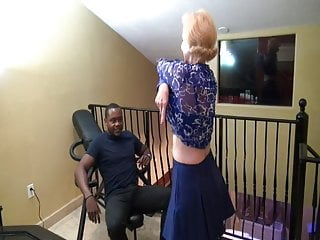 Old seducing young xxx - Blonde mother seducing young black man. creampie lust
