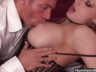 Rock hard black cock - Humiliatedmilfs - her fishnets make his cock rock-hard