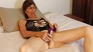 mature with vibrator