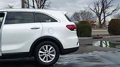 Pawg milf car wash