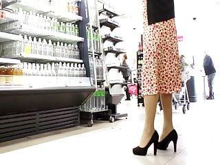 Amateur wife nylon panty Upskirt 23. satin panties
