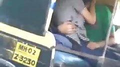 desi kissing in auto rickshaw