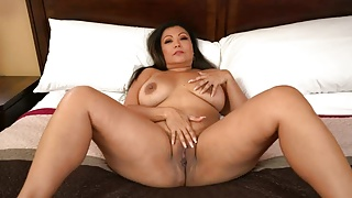 Busty Asian MILF Krystal Davis Takes Big Cock POV