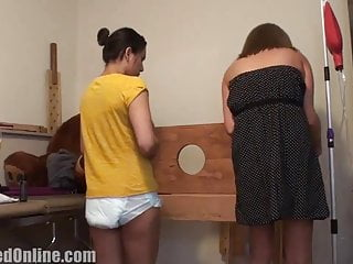 Mommy giving adult diaper girl enema - Diaper girl cici given enema in pillory by mommy star