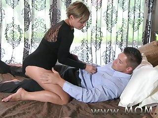 Mature rides cock videos - Mom mature brunette rides his cock