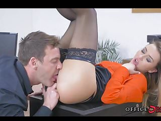Horny babes fucking video gallery Fucking european babe in stockings during lunch hours
