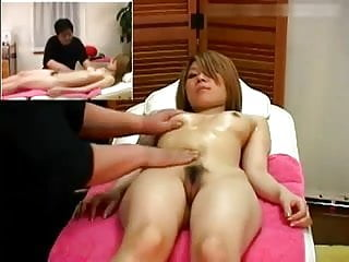 Saline breast implant replacement procedures Oiled-up asian babe undergoes thorough massaging procedure