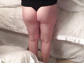 Ass in black thong Milf wife ass in black thong