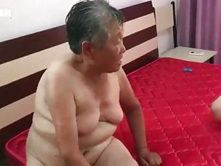 Hot big tit grandmother The grandson fucks his two grandmother