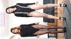 Dance in pantyhose and heels sisters