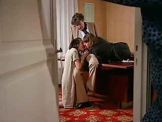 Office sex porn Vintage hot sex and toying action at the office