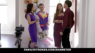 Stepson Tricks Stepmom And Stepsister With Easter Costume