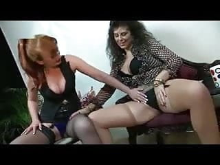 Mature redheaded lesbian Redhead and brunette mature licking and fisting