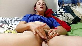 Hot wife masturbating for the camera