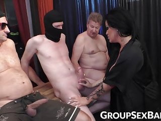 Severe interracial gangbang Inked semen demon spreading legs for severe gangbang