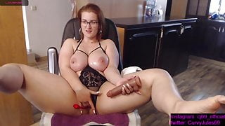 Lush and juicy German girl caresses her body and pussy