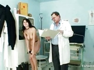 Gay doctor visit video - Adriana visiting gyno doctor for real pussy gyno exam