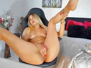 Blonde fingering asshole Blonde slut fingers her asshole