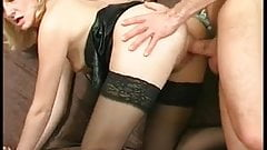 French mature in stockings gets deep sodomized