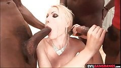 A nice blonde cock whore